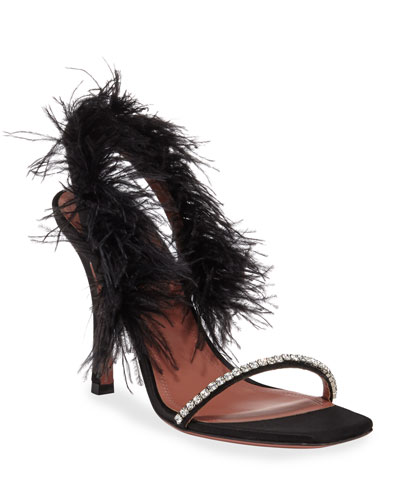 Adwoa Sandal with Feather Trim
