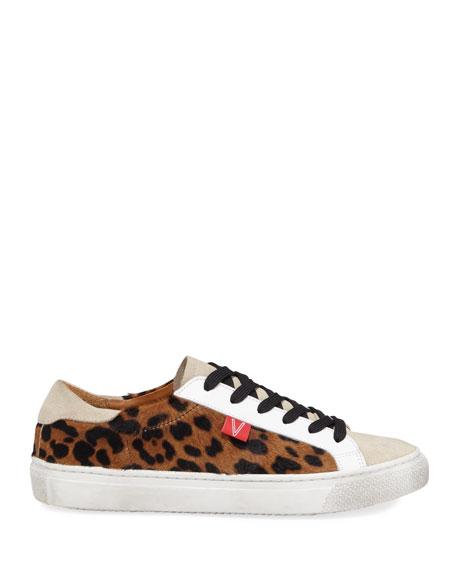 Sami Leopard Platform Sneakers