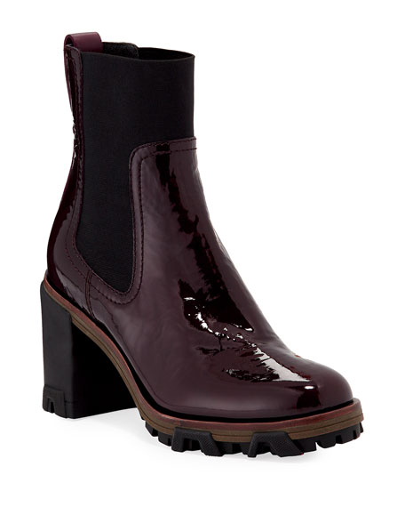 Shiloh Block-Heel Patent Boots