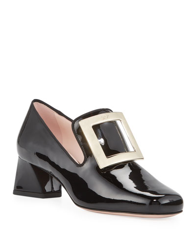 Tres Vivier Patent Loafer Pumps