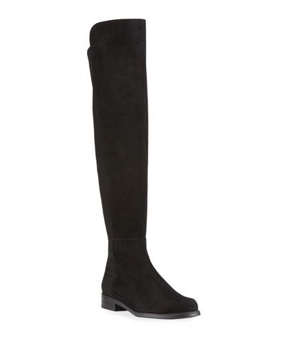 5050 Suede & Gabardine Over-the-Knee Boots