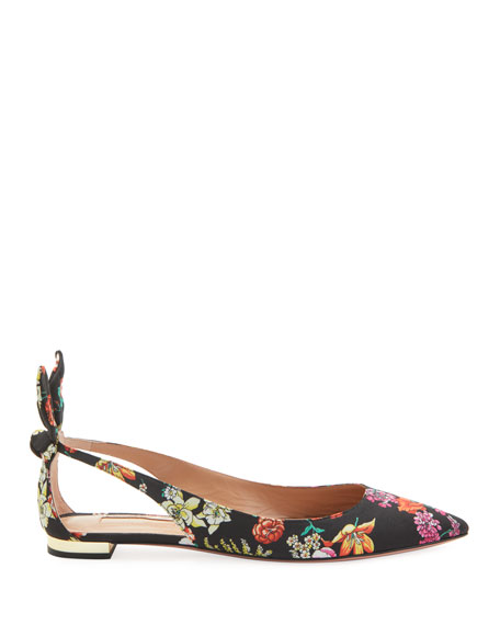 Deneuve Floral-Print Ballerina Flats
