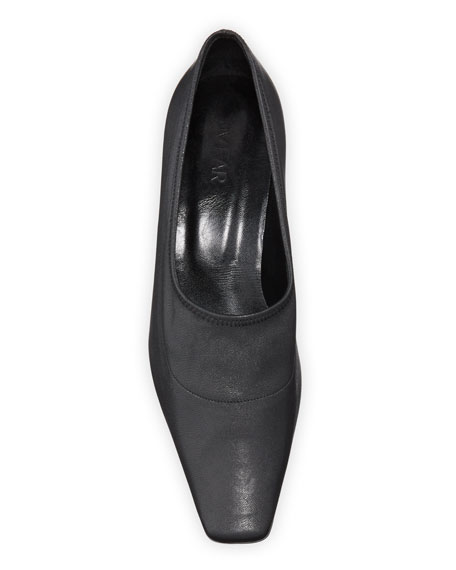 Harper Kitten-Heel Leather Pumps