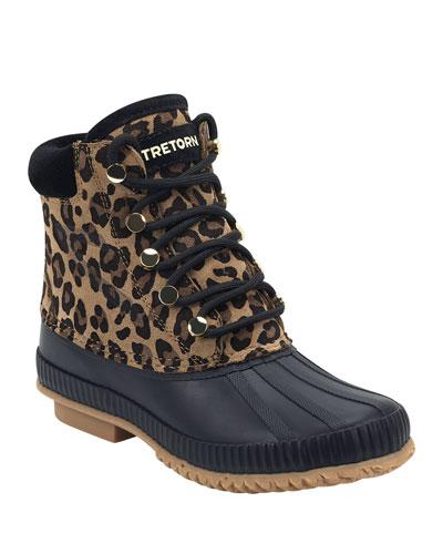 Roka Leopard Suede Booties