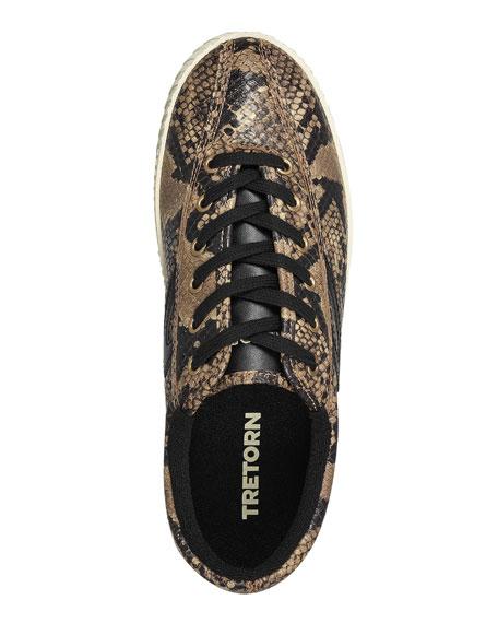 Nylite 6 Plus Snake-Print Basket Sneakers