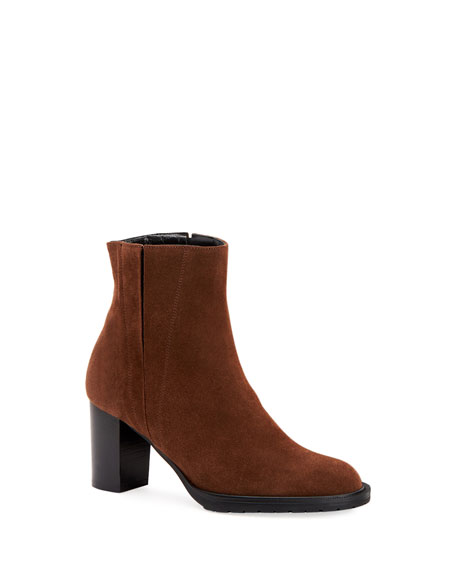 Image 1 of 1: Betsy Split Suede Booties