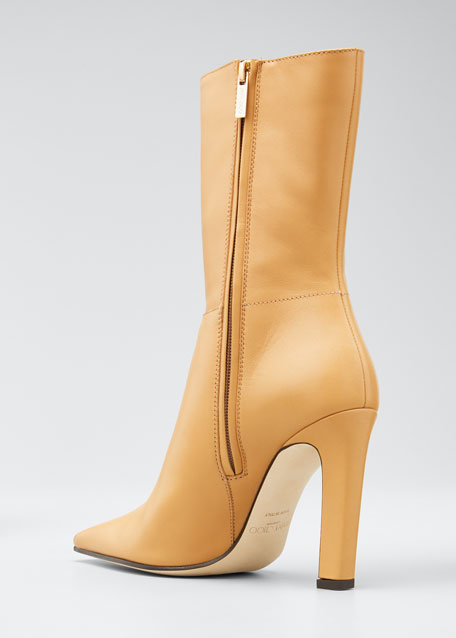 Merche Soft Leather High-Heel Boots