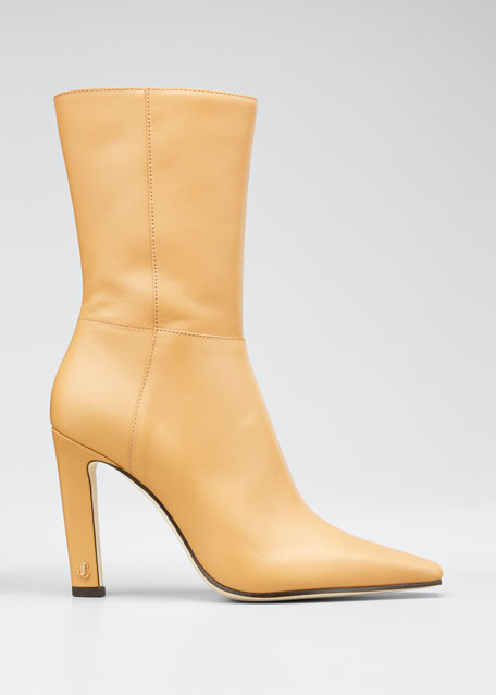 Image 1 of 1: Merche Soft Leather High-Heel Boots
