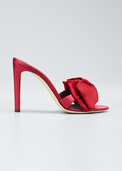 105mm Ricoperto Satin Bow Sandals