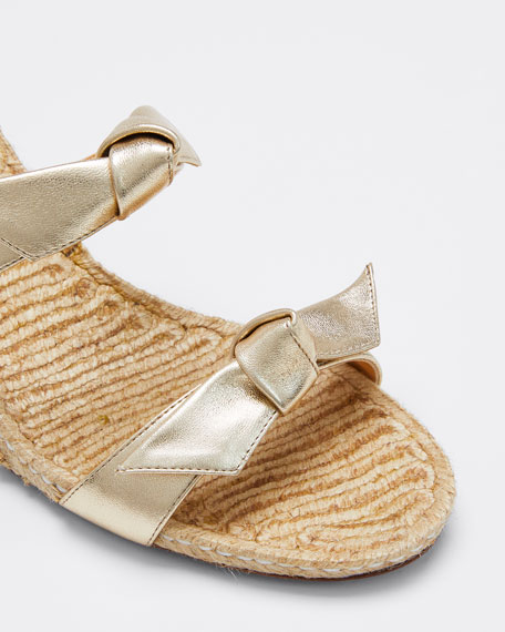 Clarita Braided Wedge Sandals