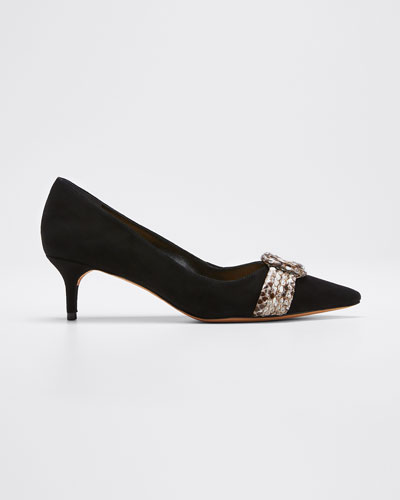 Vicky Kitten-Heel Pumps with Python
