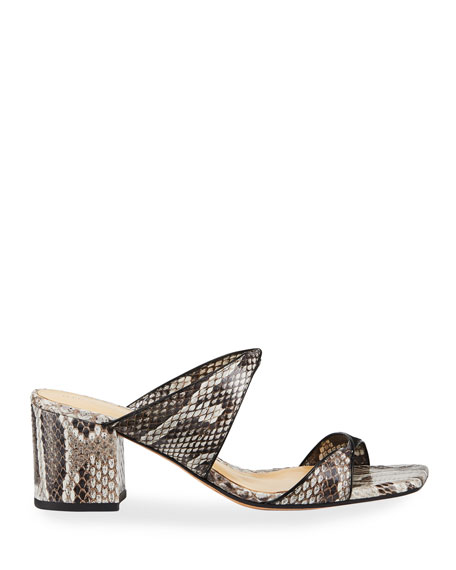 Miki Python Twist Slide Sandals