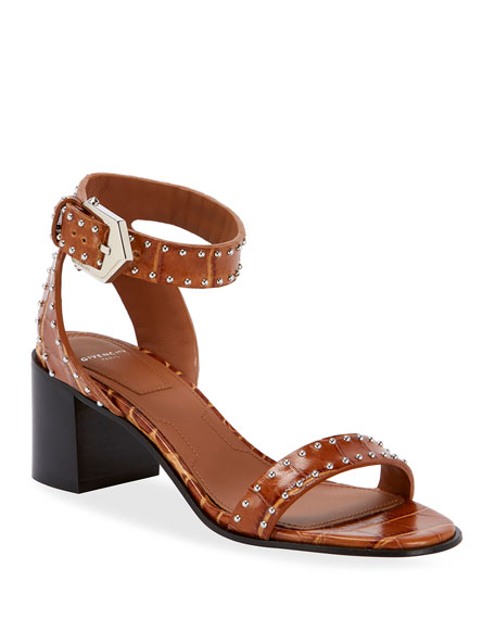 Elegant Studded Leather Sandals