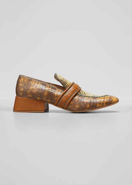 Image 1 of 1: Cheryl Short Exotic Loafers