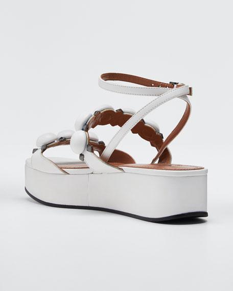Bombe Stud Leather Platform Sandals