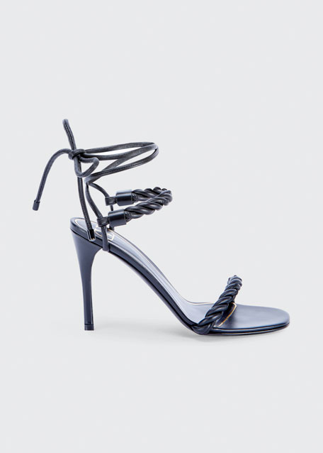 Image 1 of 1: 100mm The Rope Ankle-Tie Sandals