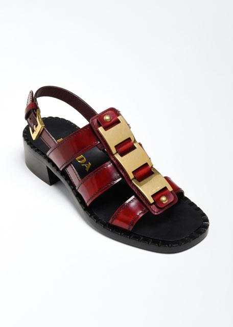 40mm Gladiator Leather Sandals