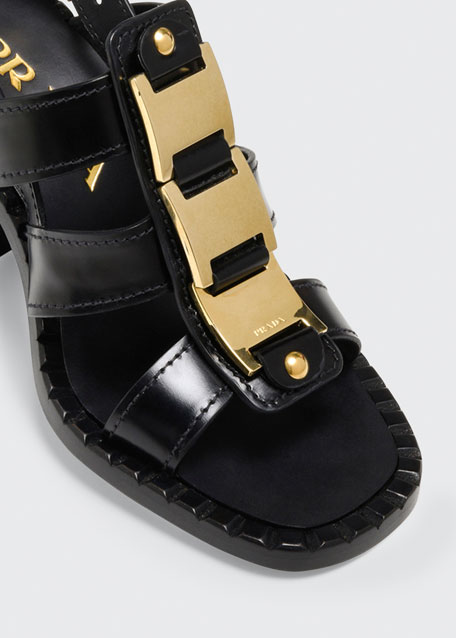 95mm Gladiator Leather Sandals