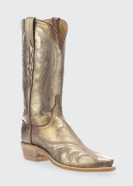 Lily Metallic Western Boots