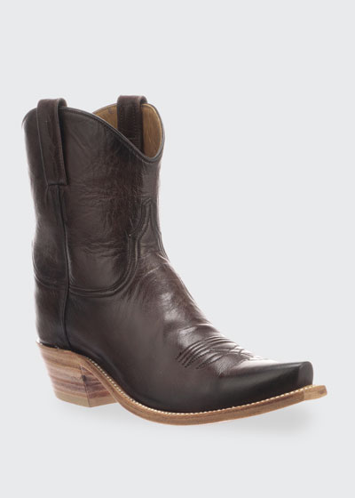 Gaby Leather Western Boots