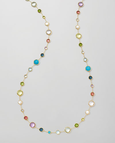 18k Gold Rock Candy Lollitini Necklace in Multi  36