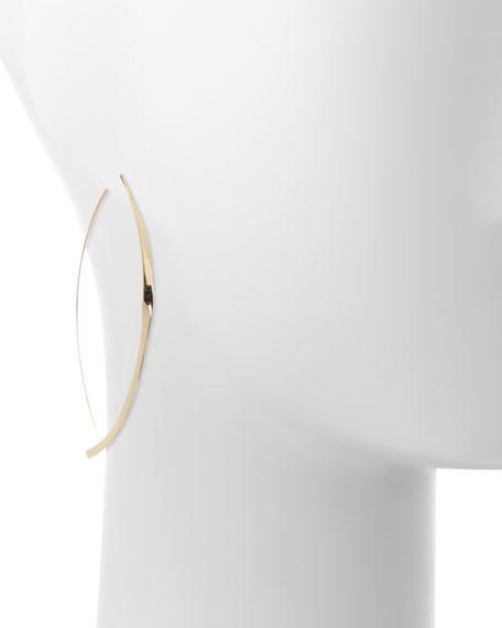 Large 14K Twist Arch Hoop Earrings