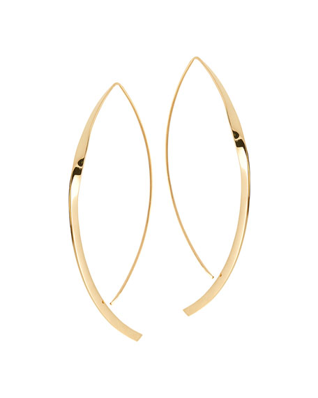 Large 14K Twist Arch Hoop Earrings