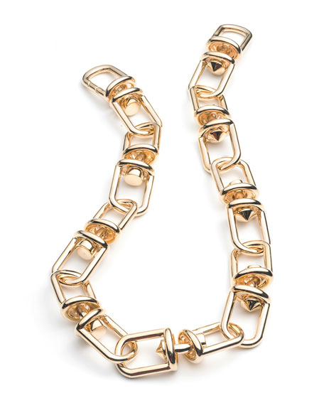 Fame Golden Link Necklace