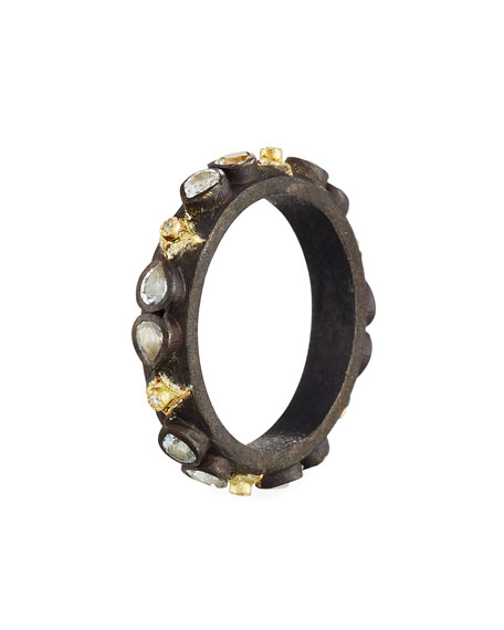 Old World Midnight Crivelli Stacking Band Ring with Diamonds & Sapphires