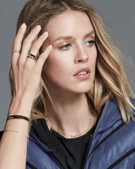 Turquoise Bezel & Diamond Stacking Ring