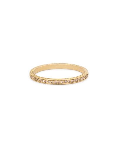 Thin Pave Cognac Diamond Band Ring