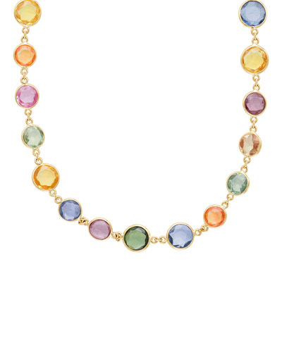 18k Multicolor Sapphire Necklace