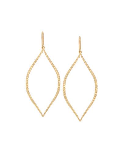 18k Twisted Marquise Drop Earrings