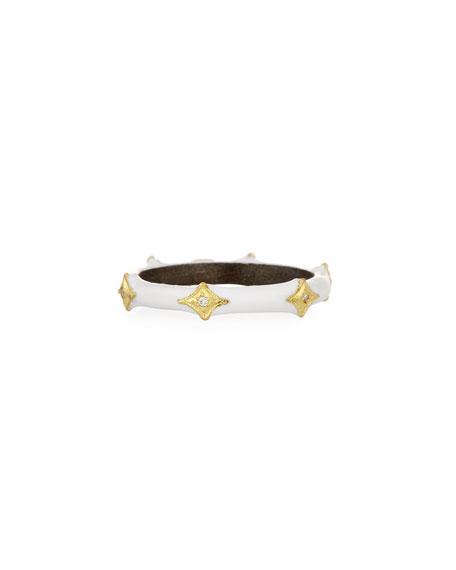 Old World 18k Crivelli Enamel Stack Band Ring