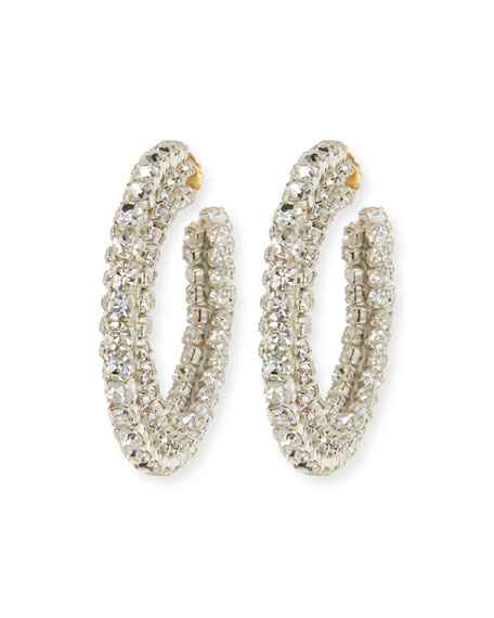 Image 1 of 1: Crystal Hoop Earrings