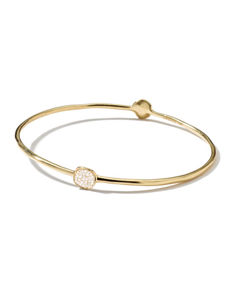 Image 1 of 1: Stardust Two-Flower Gold Diamond Bangle