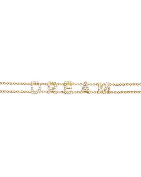14k Gold Diamond Dream Bracelet