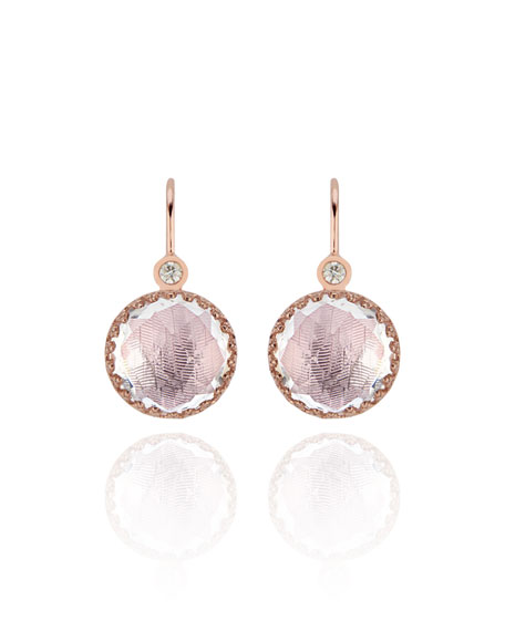 Olivia Diamond & Drop Earrings in Rose Gold Wash with Ballet Foil