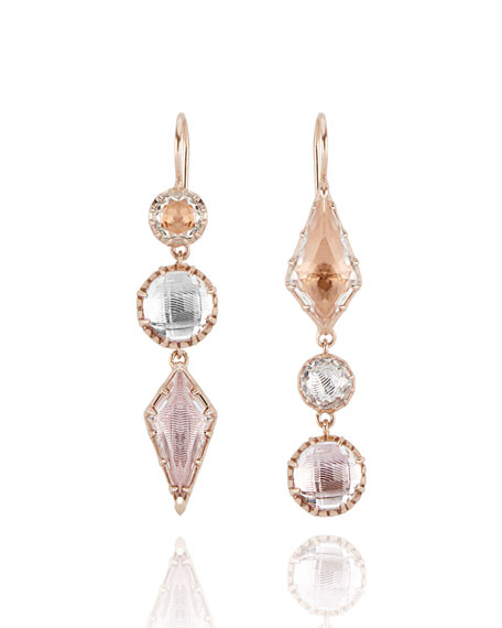 Sadie Kite Drop Earrings in Multi-Peach Foil
