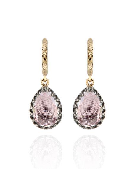 Lady Jane Small Pear Drop Huggie Earrings, Ballet