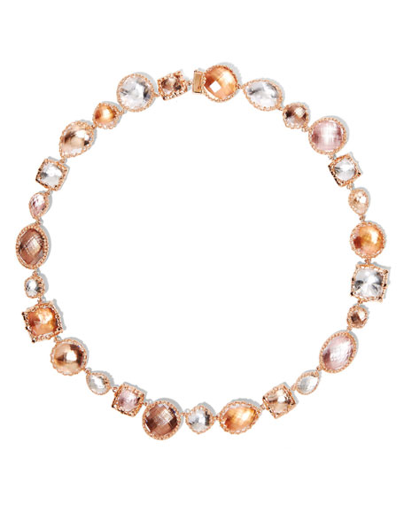 Sadie Large Riviere Necklace in Multi-Peach