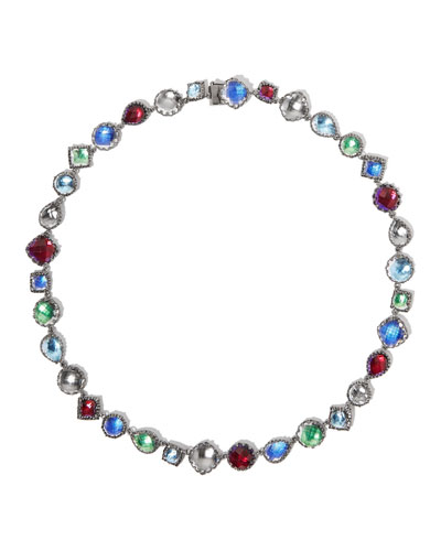 Small Sadie Riviere Necklace in Multicolor