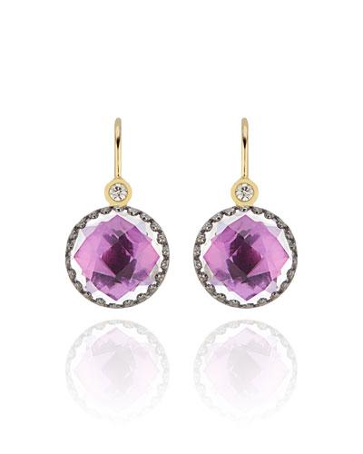 Olivia Diamond & Drop Earrings  Magenta