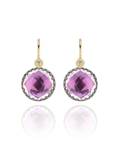 Olivia Diamond & Drop Earrings, Magenta