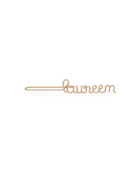 Personalized Single Wire Ear Cuff, 6-10 Letters