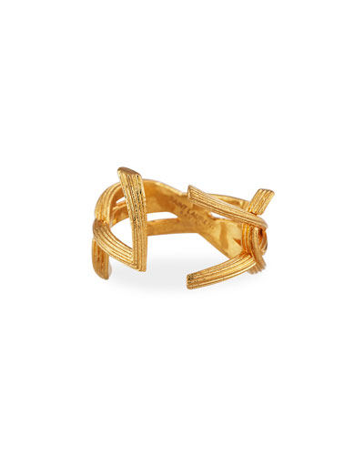 YSL Monogram Split Ring  Size 7