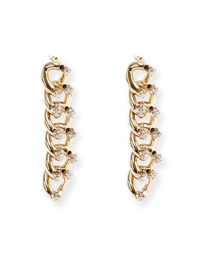 Liberta Crystal Chain Earrings