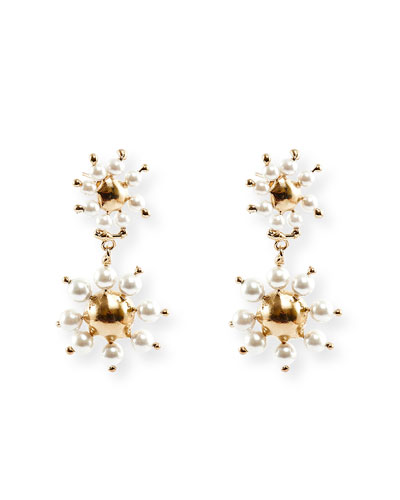 Daisy Double-Drop Earrings