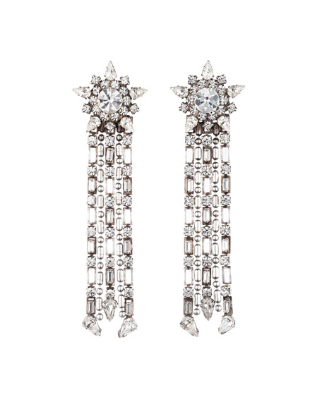 Image 1 of 1: Phoebe Crystal Dangle Earrings