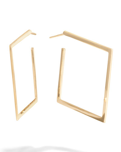 30mm Square Flat Hoop Earrings